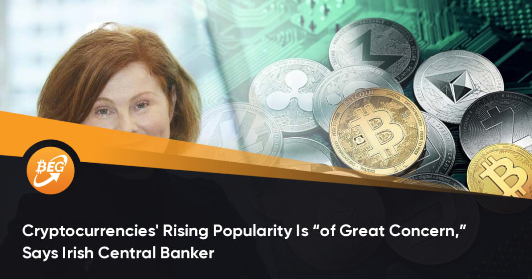 """Cryptocurrencies' Rising Popularity Is """"of Great Concern,"""" Says Irish Central Banker"""