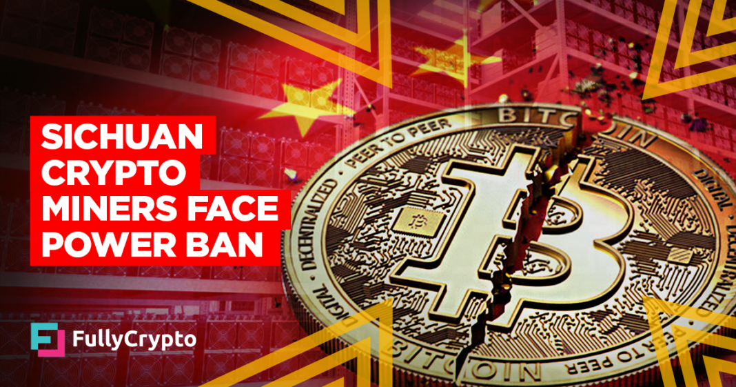 Sichuan Tells Energy Companies to Stop Serving Crypto Miners