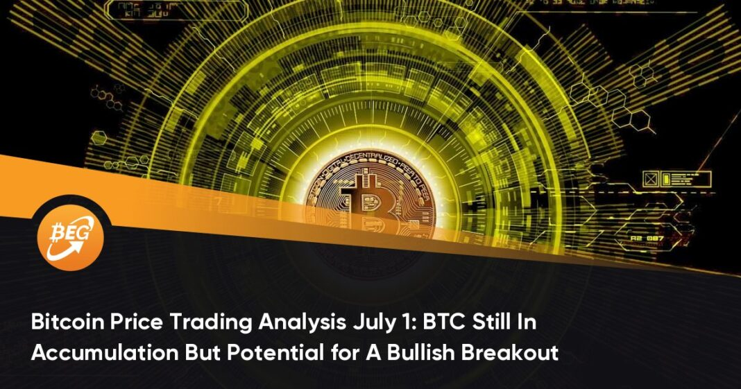 Bitcoin Price Trading Analysis July 1: BTC Still In Accumulation But Potential for A Bullish Breakout