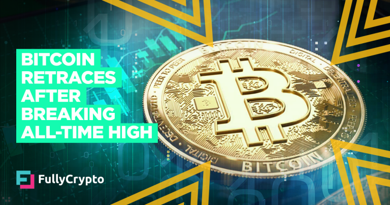 Bitcoin Retraces After Breaking All-time High